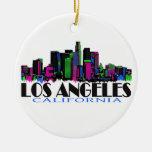 Los Angeles California neon skyline