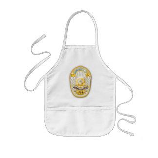 Los Angeles California Police Badge. Kids Apron