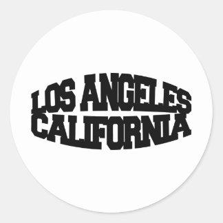 Los Angeles California Round Sticker