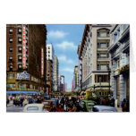 Los Angeles California Seventh at Broadway Greeting Cards