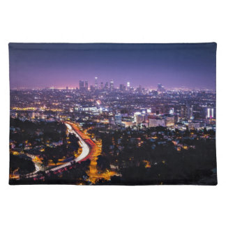 Los Angeles, California Skyline at night Placemat