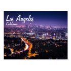Los Angeles, California Skyline at night Postcard