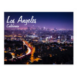 Los Angeles, California Skyline at night Postcards