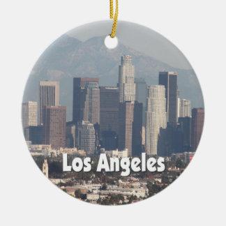 Los Angeles California Skyline Christmas Ornament