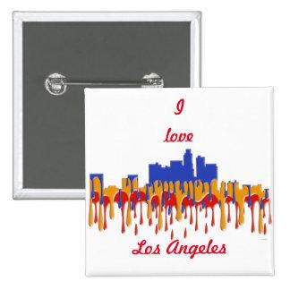 LOS ANGELES, CALIFORNIA SKYLINE - GAUGAN - 15 CM SQUARE BADGE