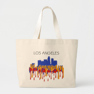 LOS ANGELES, CALIFORNIA SKYLINE - GAUGAN - LARGE TOTE BAG