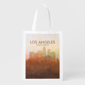 Los Angeles California Skyline IN CLOUDS Reusable Grocery Bag
