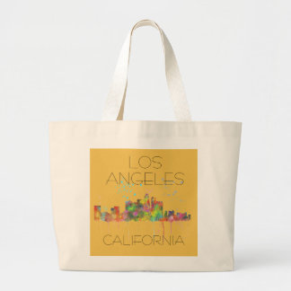 LOS ANGELES, CALIFORNIA SKYLINE LARGE TOTE BAG