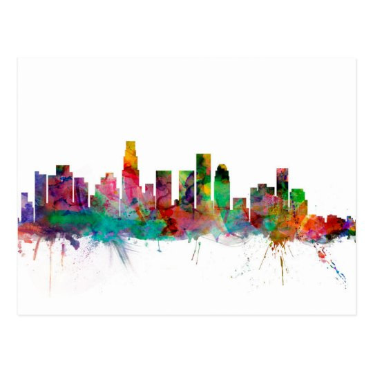 Los Angeles California Skyline Postcard