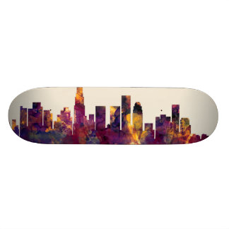 Los Angeles California Skyline Skateboard