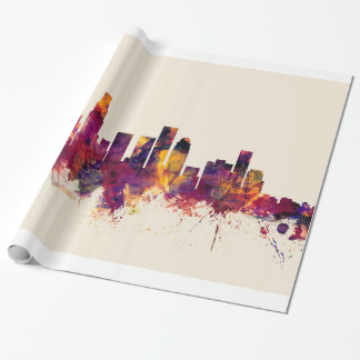 Los Angeles California Skyline Wrapping Paper