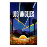 Los Angeles, California, travel poster. Poster