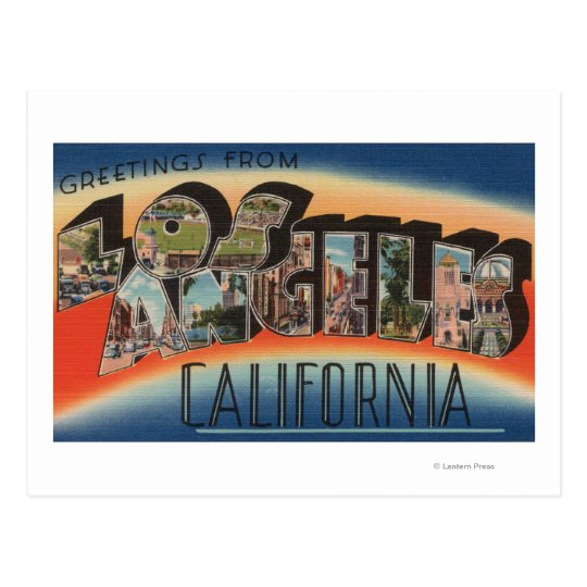 Los Angeles, CaliforniaLarge Letter Scenes 2 Postcard