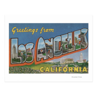 Los Angeles, CaliforniaLarge Letter Scenes Postcard