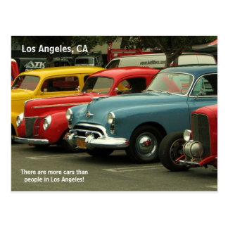 Los Angeles Car Postcard! Postcard
