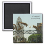 Los Angeles Chinatown Magnet! Square Magnet