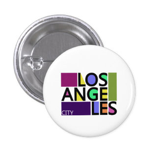Los Angeles City Modern Typography Graphics Button