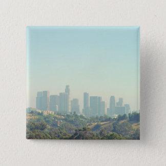 Los Angeles Cityscape 15 Cm Square Badge