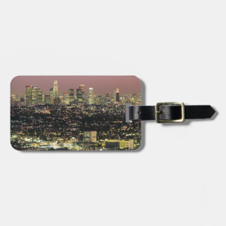 Los Angeles Cityscape at Night Luggage Tag