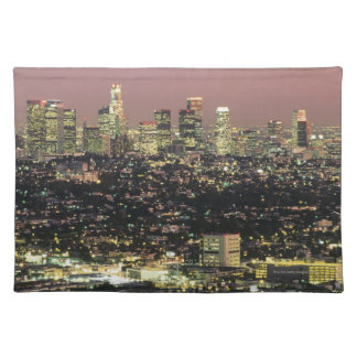 Los Angeles Cityscape at Night Placemat