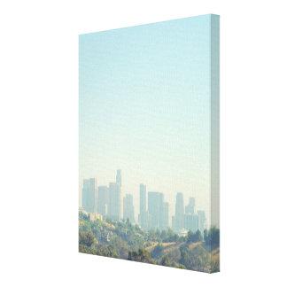 Los Angeles Cityscape Canvas Prints
