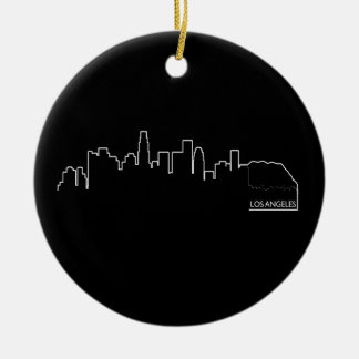Los Angeles cityscape Christmas Ornament