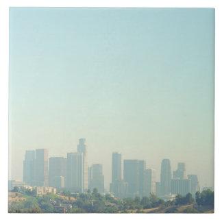 Los Angeles Cityscape Large Square Tile