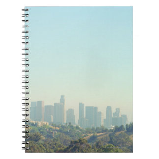 Los Angeles Cityscape Spiral Note Books