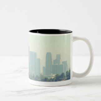 Los Angeles Cityscape Two-Tone Coffee Mug