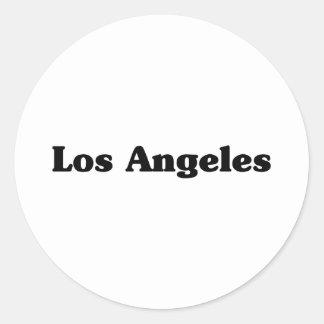 Los Angeles  Classic t shirts Round Sticker