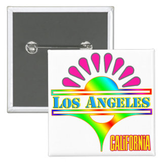 """Los Angeles Colorful 1"" Button"
