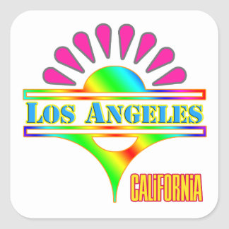 """Los Angeles Colorful 1"" Sticker"
