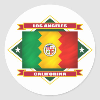 Los Angeles Diamond Round Sticker