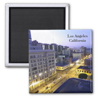 Los Angeles, Downtown Night Magnet! Square Magnet