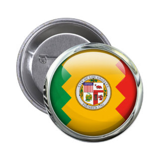 Los Angeles Flag Glass Ball 6 Cm Round Badge