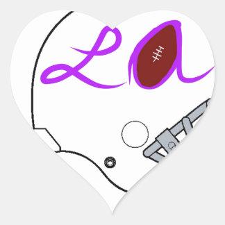 Los Angeles football team Heart Sticker