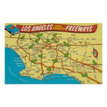 Los Angeles Freeways Poster