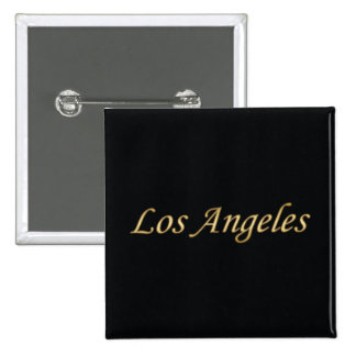 Los Angeles Gold - On Black 15 Cm Square Badge