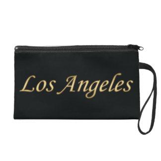 Los Angeles Gold - On Black Wristlet Clutch