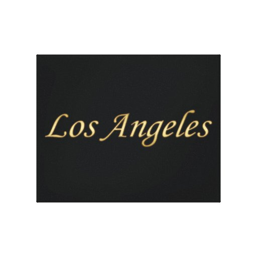 Los Angeles Gold - On Black Stretched Canvas Print