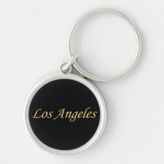 Los Angeles Gold - On Black Keychain