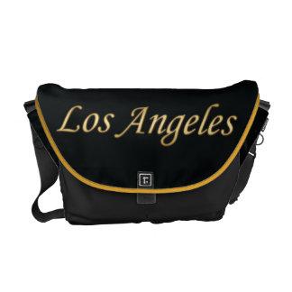 Los Angeles Gold - On Black Messenger Bags