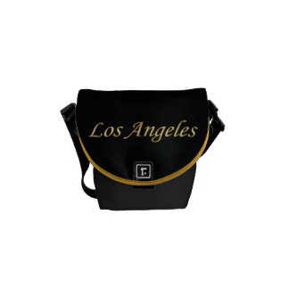 Los Angeles Gold - On Black Courier Bags