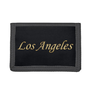 Los Angeles Gold - On Black Tri-fold Wallets