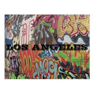 LOS ANGELES GRAFFITI POSTCARD