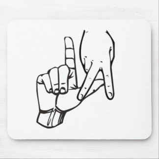 Los Angeles Hand Sign Mouse Pad