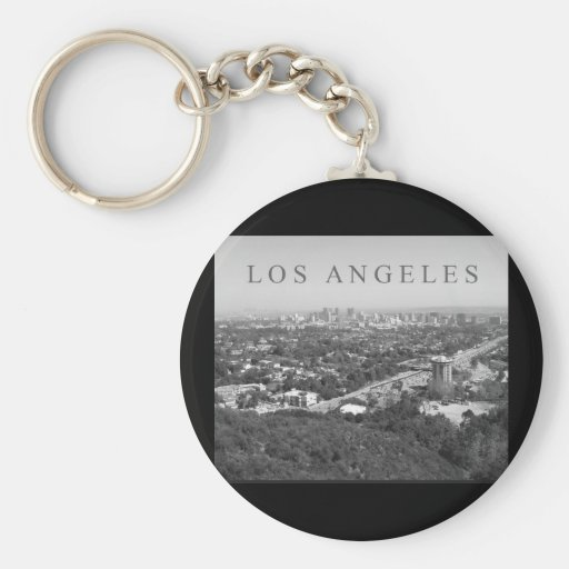 Los Angeles in Black and White Keychain