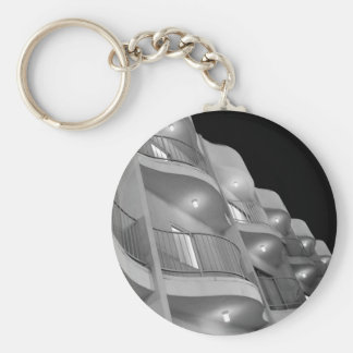 Los Angeles Basic Round Button Key Ring