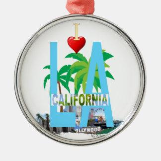 los angeles  l a california city usa america christmas ornament