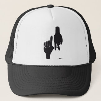LOS ANGELES LA HAND SIGN TRUCKER HAT